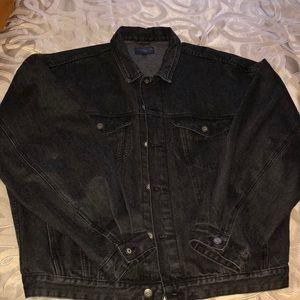 Black jean jacket size XL